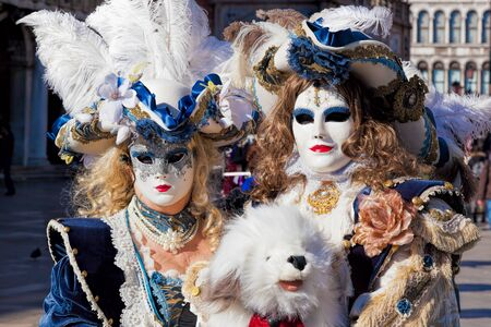 elegant party: Amazing carnival masks in Venice, Italy
