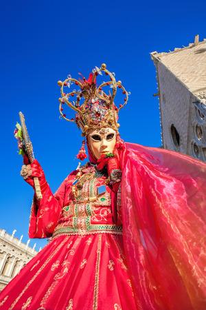 Schöne Schablone am Karneval in Venedig, Italien