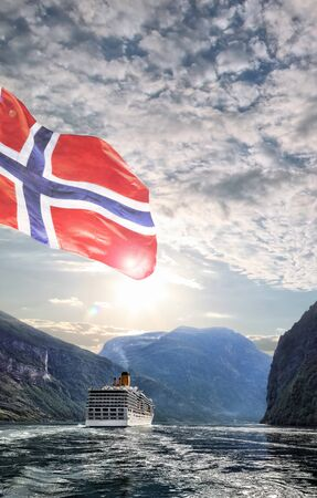 norway: Geiranger fjord with cruise trip in Norway