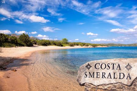 rotondo: Capriccioli beach on Sardinia island, Costa Smeralda, Italy