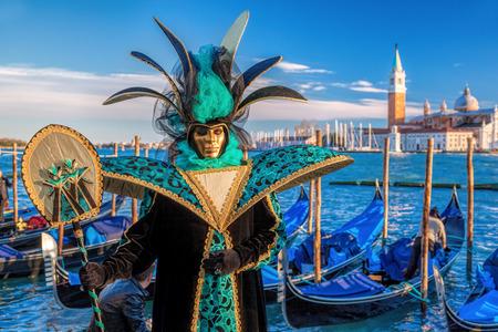 Berühmte Karneval in Venedig, Italien