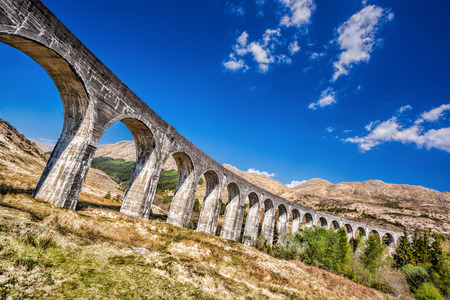 the jacobite: Glenfinnan Railway Viaduct in Scotland