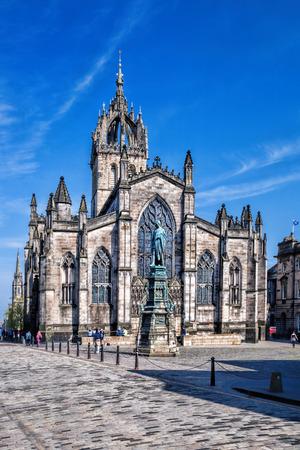 St. Giles Cathedral in Edinburgh, Scotland Stock Photo