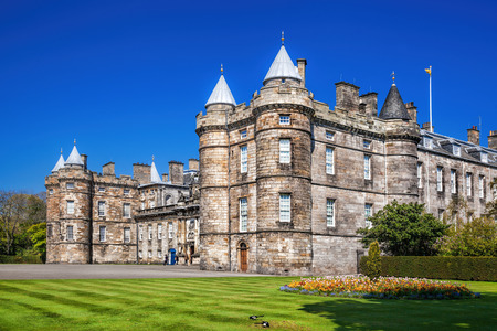 palaces: Palace of Holyroodhouse is residence of the Queen in Edinburgh, Scotland