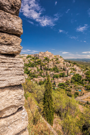 Famous old village Gordes in Provence in France