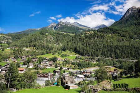 saint nicolas: Village in Swiss Alps, Zermatt area