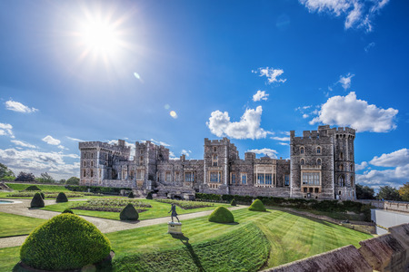 Windsor castle with garden near London, United Kingdom