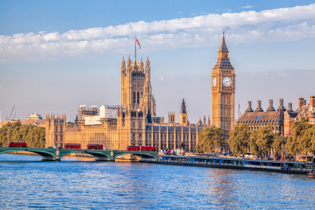houses of parliament: Big Ben and Houses of Parliament in London, UK Stock Photo