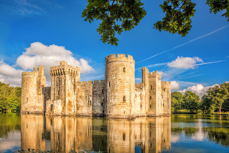 hastings: Historic Bodiam Castle in East Sussex, England Editorial