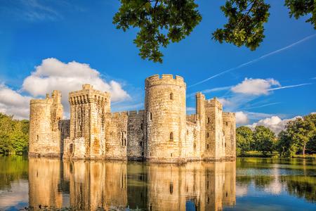 sussex: Historic Bodiam Castle in East Sussex, England Editorial