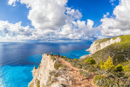 ionian: Amazing cliffs with clouds on Zakynthos island in Greece
