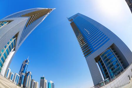 united arab emirate: Futuristic architecture in Dubai, Emirate towers, United Arab Emirates