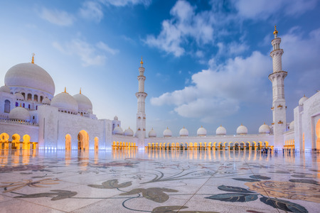 abudhabi: Sheikh Zayed Grand Mosque in Abu-Dhabi, United Arab Emirates