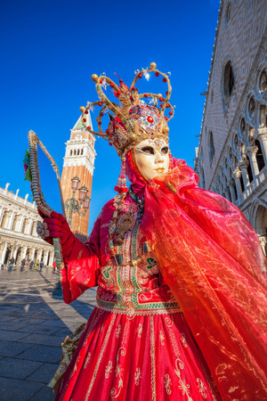 st marks square: Carnival mask on St. Marks Square in Venice, Italy