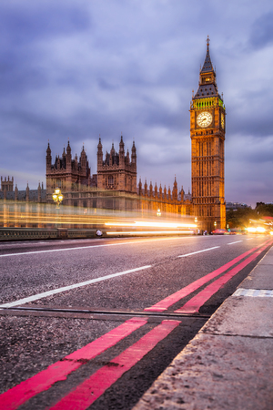popular: The Big Ben and the Houses of Parliament at night, London, UK