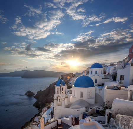 Beautiful Oia village on Santorini island in Greece