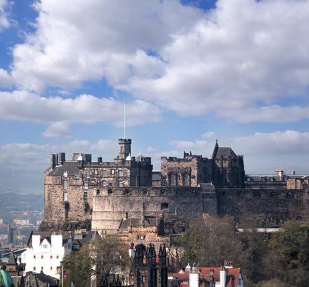 Famous Edinburgh Castle with city in Scotland Reklamní fotografie - 120229656