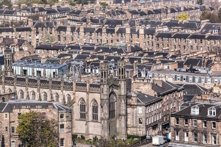 View of Edinburg city with old houses in Scotland Reklamní fotografie - 120259529
