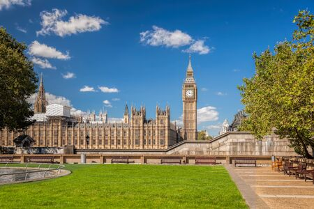 Big Ben and Houses of Parliament in London, England, UK Stock Photo