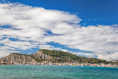 Zante town During sunny day on Zakynthos island in Greece