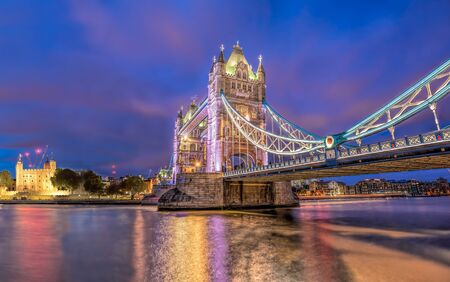 Panorama of London with Tower Bridge and Tower Hill in England, UK Zdjęcie Seryjne