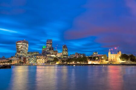 Panorama of London with modern downtown in England, UK