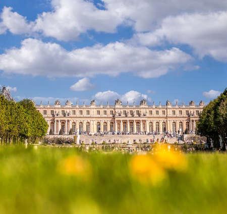 Chateau de Versailles during spring time in Paris FRANCE Publikacyjne