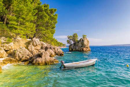 Old town Brela with harbor in Dalmatia, Croatia Reklamní fotografie