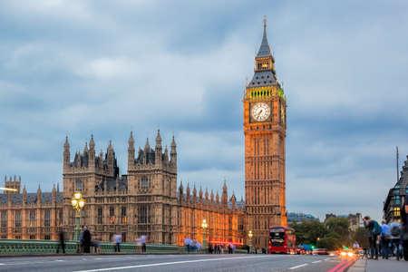 Big Ben in the evening, London, England, UK Фото со стока