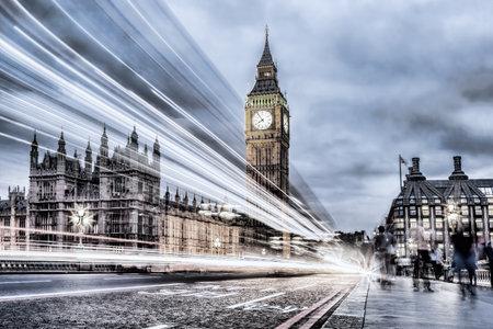 Big Ben with bridge in the evening, London, England, United Kingdom