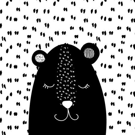 sweet bear for kids design. Vector Illustration