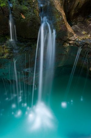 background waterfalls: Small waterfall