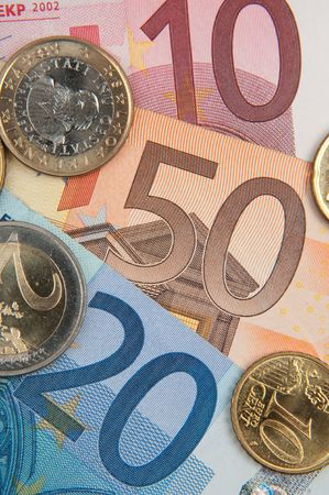 banconote euro: EURO Archivio Fotografico