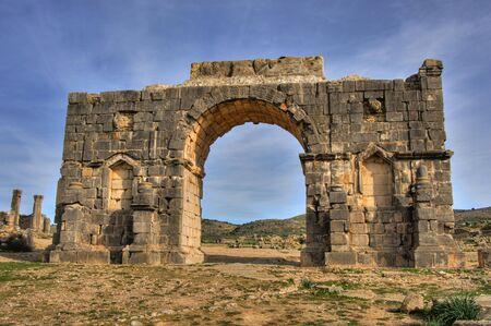 volubilis: triumph arch in volubilis