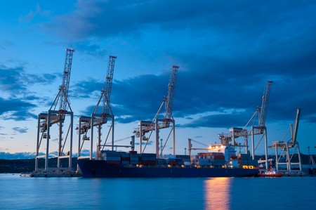 op maat: Industrie haven  Stockfoto