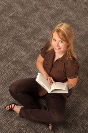 Girl with book photo