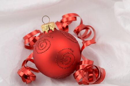 chrom: Christmas ornaments Stock Photo