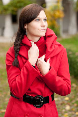 girl in red coat Stock Photo - 9023870