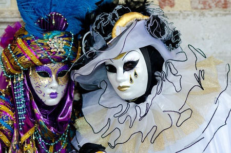 head dress: Venice mask Stock Photo