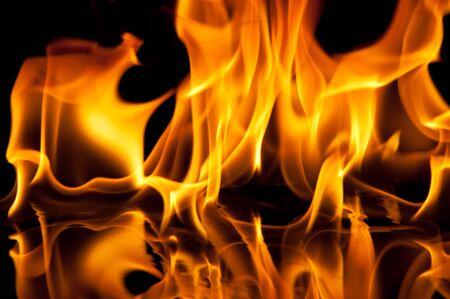Flamme Textur auf schwarzem Hintergrund