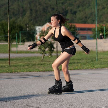 Roller skater photo