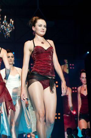 17 20: IDRIJA, SLOVENIA - JUNE 18: Model walks the runway in Alica Underwear with idria lace at the Idrija Lace Festival Fashion Show on June 18, 2011. The festival is from June 17 - 20, 2011