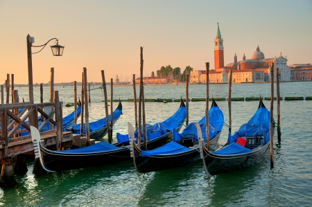 gondels in Venetië Stockfoto
