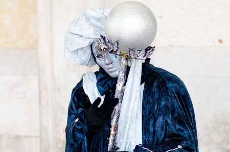 mardigras: VENICE, ITALY - MARCH 7: Unidentified people in Venetian masks at St. Marks Square, Carnival of Venice on March 7, 2011. The annual carnival is from February 26 to March7, 2011.