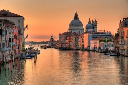 Canal grande en Venecia Foto de archivo