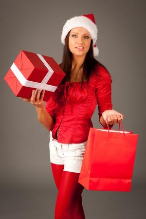Attractive santa girl Stock Photo - 11682392