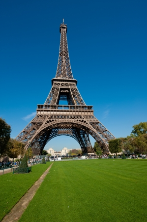 The Eiffel Tower in morning sunlight in Paris France Stock Photo - 11909842