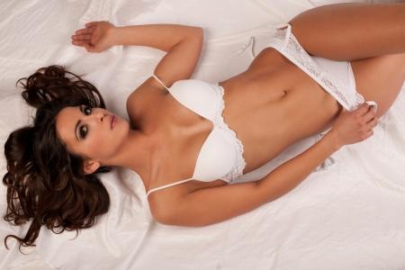 attractive young girl in underwear