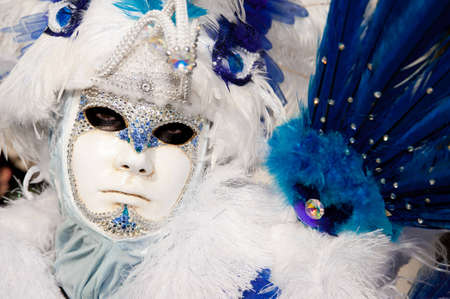 mardigras: VENICE, ITALY - FEBRUARY 26: Unidentified person in Venetian masks at St. Marks Square, Carnival of Venice on February 16, 2012 in Venice, Italy. The annual carnival is from February 11 to February 21, 2012. Editorial