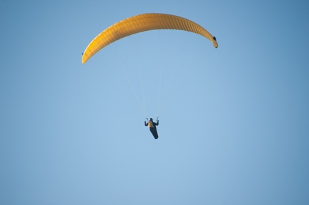 paraglider: Paraglider in the air Stock Photo